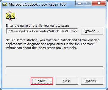 Fixed: Cannot Start Microsoft Outlook Error