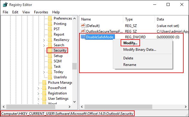 Solved: Microsoft Outlook 2010 Always Start in Safe Mode