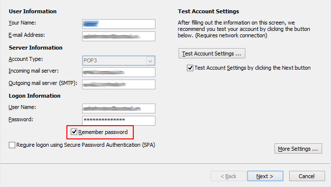 outlook 2106 keeps asking for password